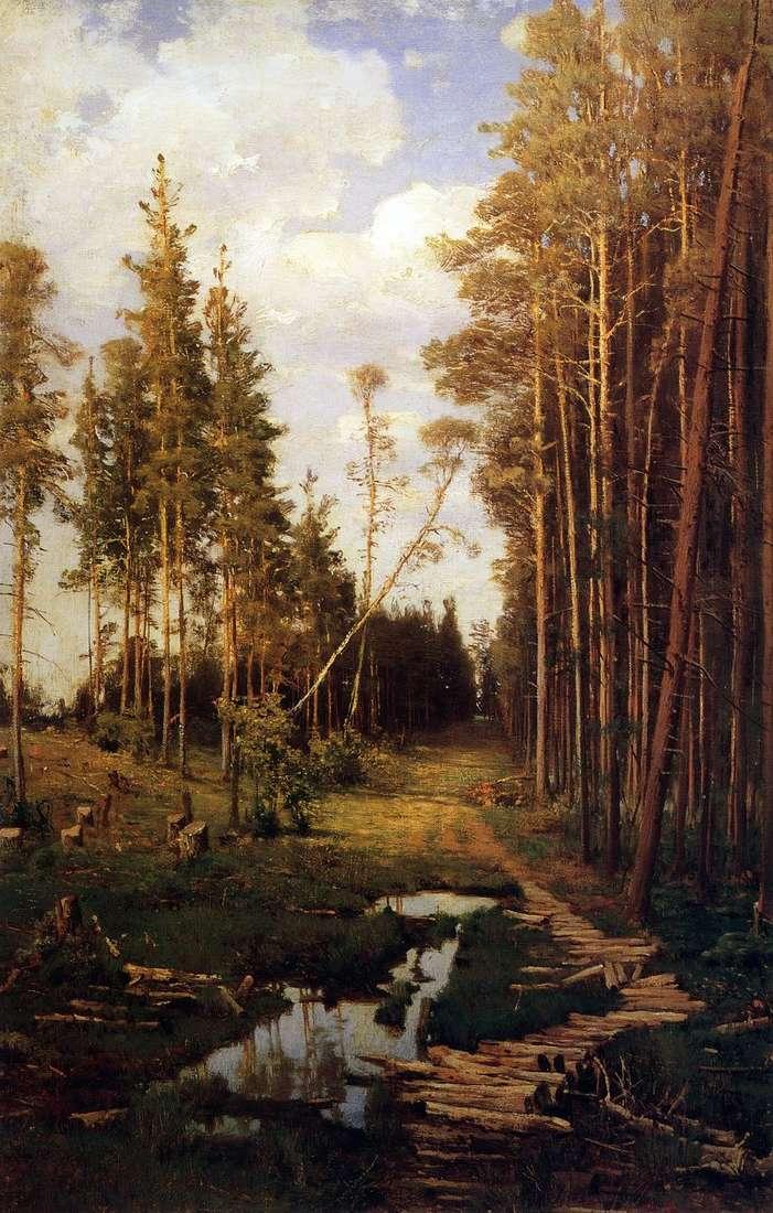 Просіка в сосновому лісі   Олексій Саврасов