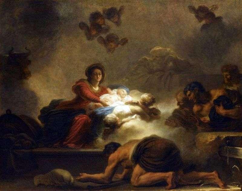 Поклоніння пастухів   Жан Оноре Фрагонар