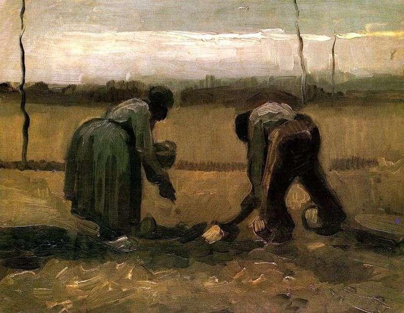 Селянин і селянка сажающие картопля   Вінсент Ван Гог