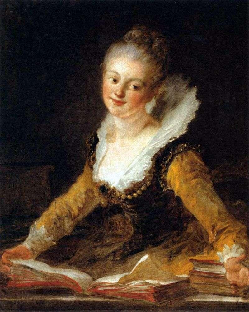 Портрет дами в образі музи Науки   Жан Оноре Фрагонар
