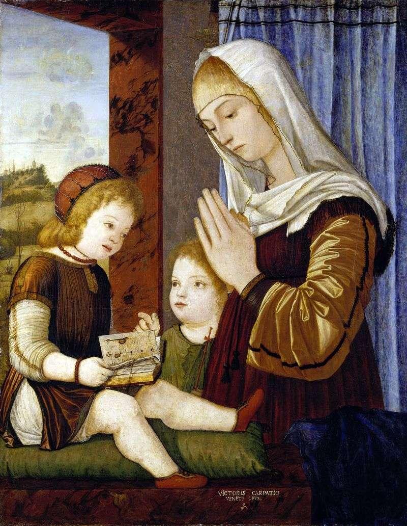 Мадонна з Немовлям і Іоанном Хрестителем   Вітторіо Карпаччо