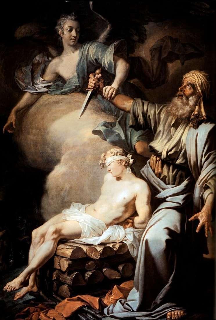 Авраам приносить у жертву свого сина Ісаака (Жертвоприношення Авраама)   Антон Лосенко