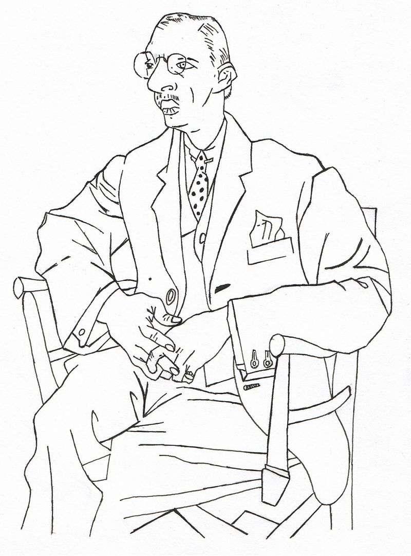 Портрет Ігоря Стравінського   Пабло Пікассо