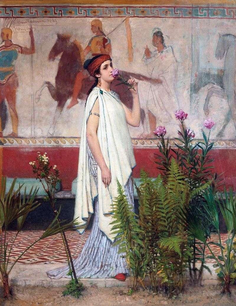 Грецька жінка   Лоуренс Альма Тадема