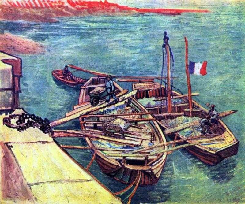 Човни з піском біля причалу   Вінсент Ван Гог