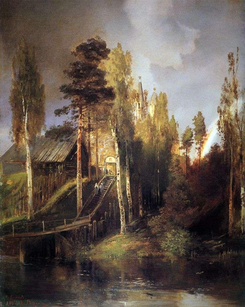 Біля воріт монастиря   Олексій Саврасов