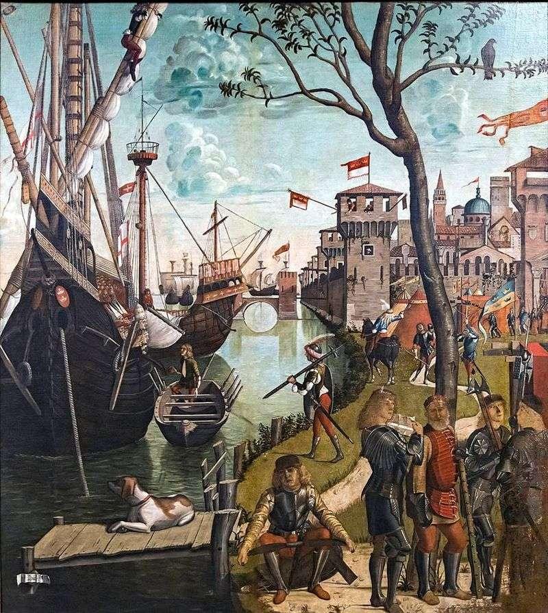 Прибуття святої Урсули і паломників у Кельн   Вітторе Карпаччо