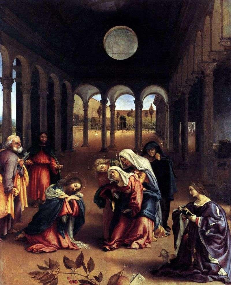Прищание Христа з Матірю   Лоренцо Лотто