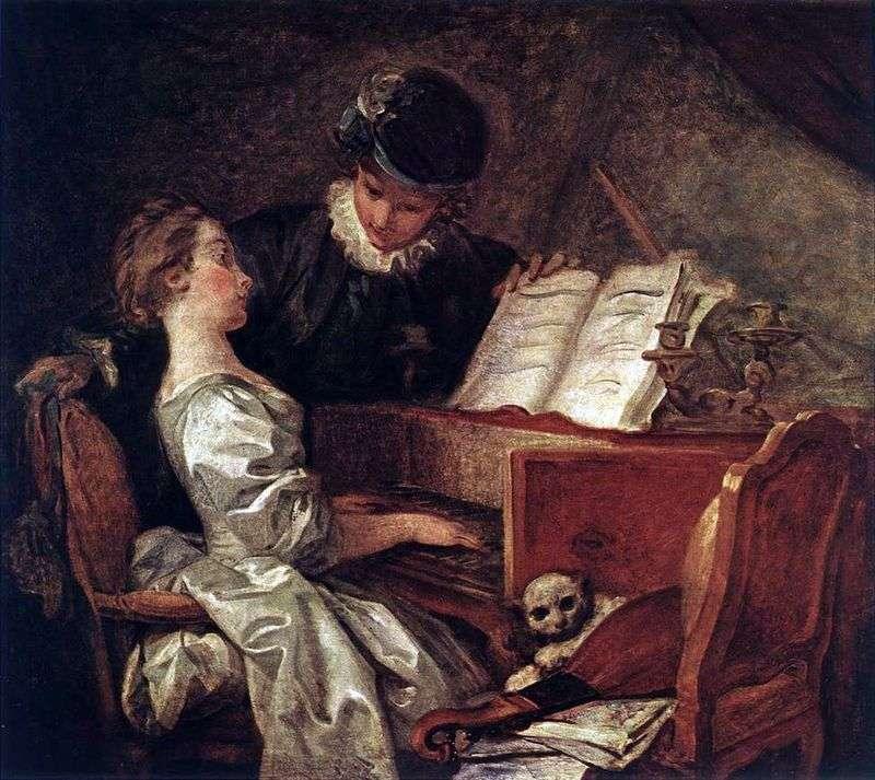Урок музики   Жан Оноре Фрагонар