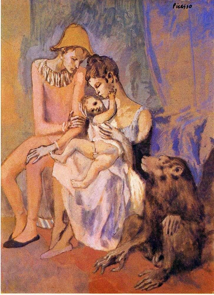 Сімейство акробата з мавпочкою   Пабло Пікассо