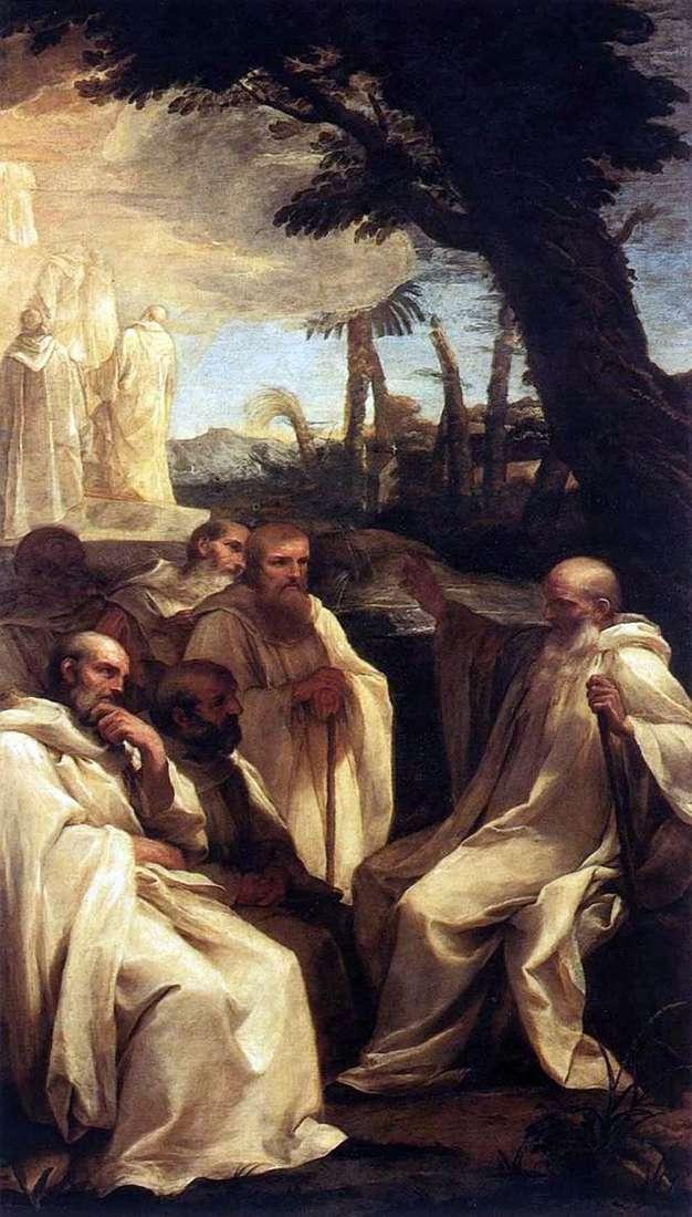 Бачення святого Ромуальда   Андреа Саккі