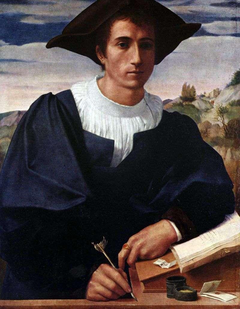 Молодий чоловік за конторкой   Франческо ді Кристофано Франчабиджо
