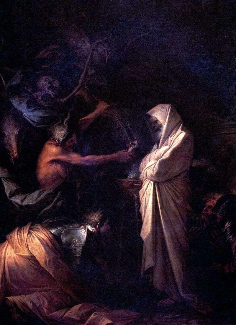 Дух Самуїла, покликаний до Саула чарівницею з Аэндора   Сальватор Роза