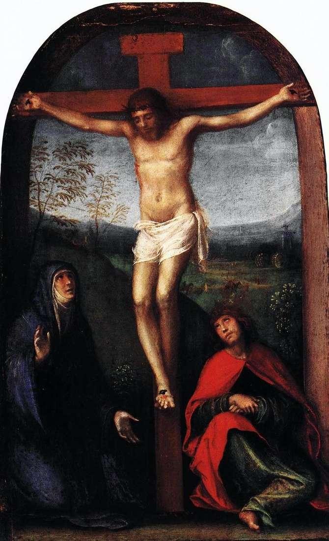 Розпятий Христос із Марією і святим Євангелістом Іоанном   Франческо Франче