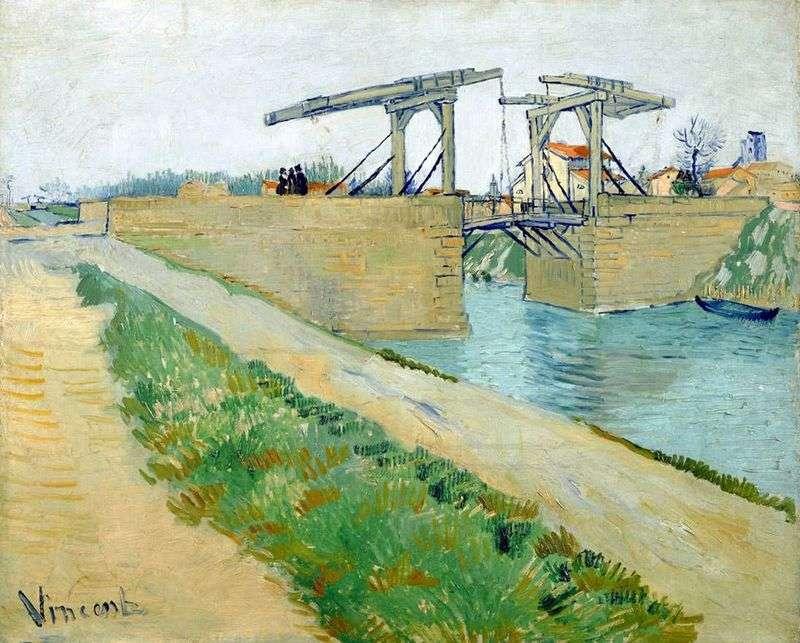 Міст Ланглуа в Арлі і дорога вздовж каналу   Вінсент Ван Гог