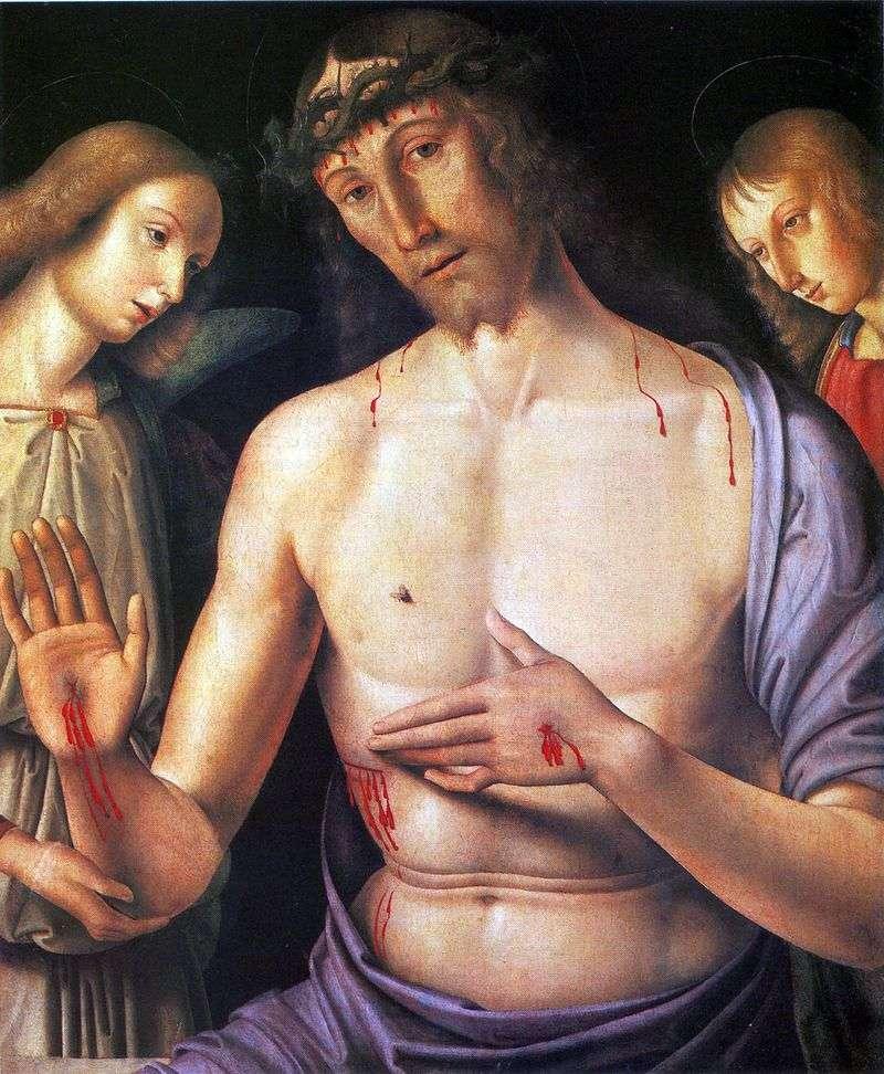 Христос з двома ангелами   Джованні Санті