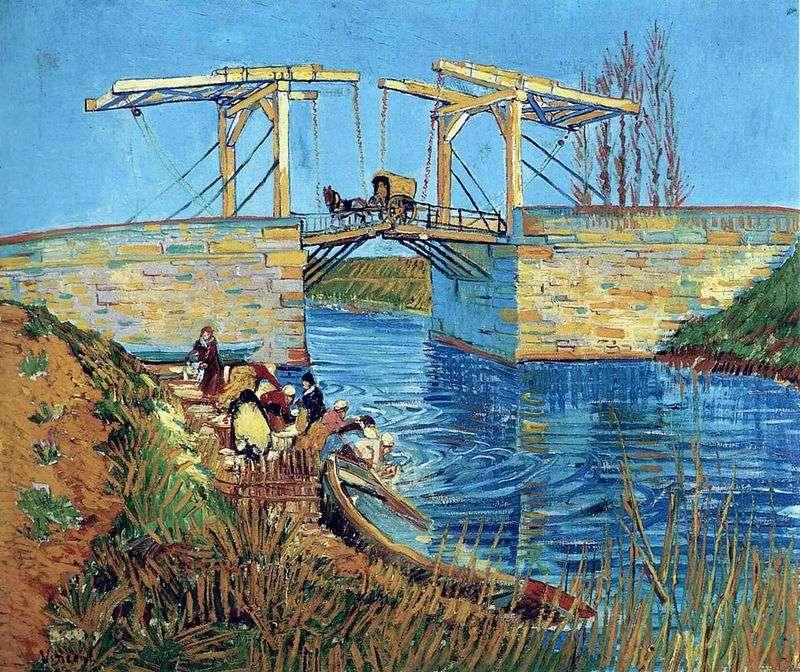 Міст Ланглуа в Арлі і стираючі жінки   Вінсент Ван Гог