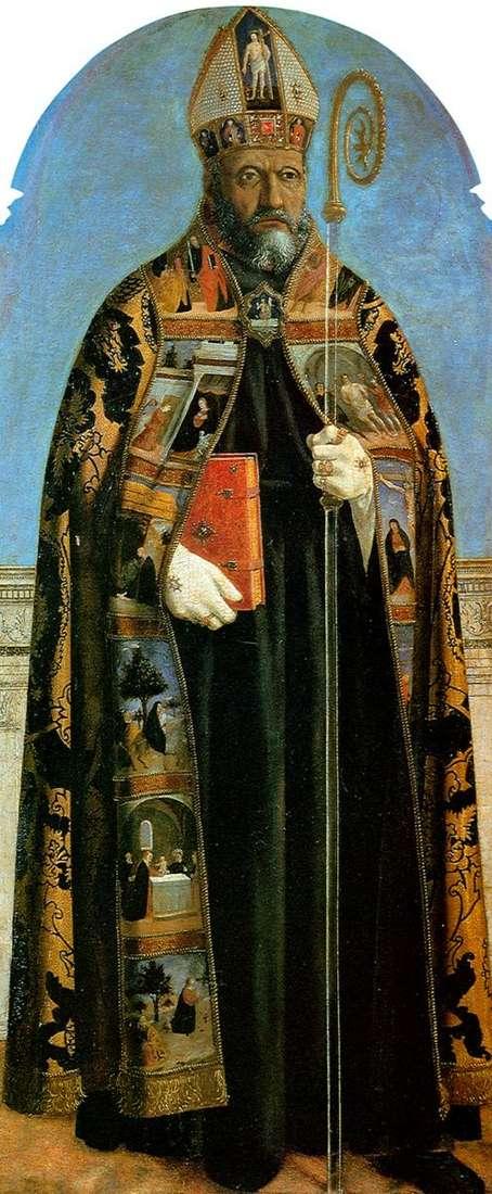 Вівтарний образ для церкви Сант Агостіно: святий Августин   Пєро делла Франческа