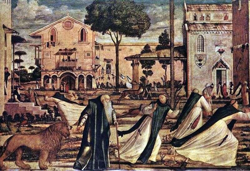 Святий Ієронім призводить до монастиря лева   Вітторіо Карпаччо