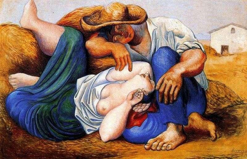 Сплячі селяни   Пабло Пікассо