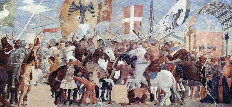 Битва Геракла з Хозроем   Пєро делла Франческа