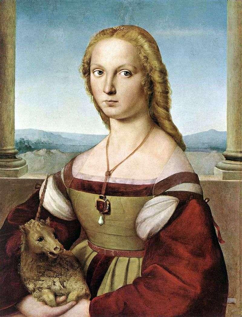 Дама з єдинорогом   Рафаель Санті