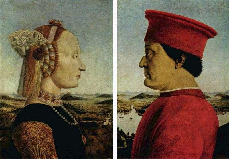 Портрет герцога Федеріго Монтефельтро і герцогині Баттіста Сфорца   Пєро делла Франческа