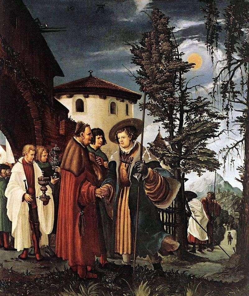 Прощання святого Флоріана з монастирем   Альбрехт Альтдорфер