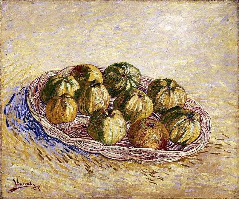 Натюрморт з кошиком яблук   Вінсент Ван Гог