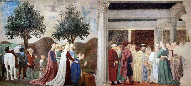 Прибуття цариці Савської до царя Соломона   Пєро делла Франческа