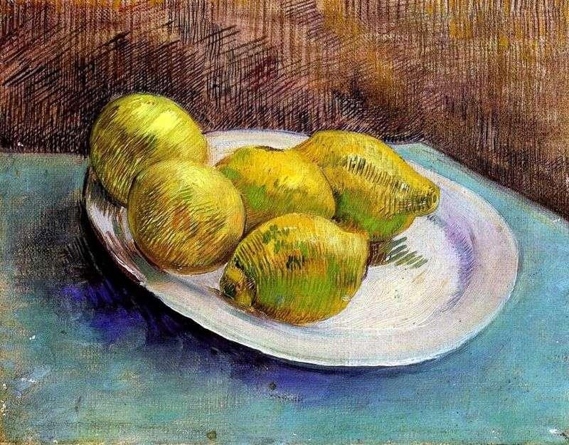 Натюрморт з лимонами на тарілці   Вінсент Ван Гог