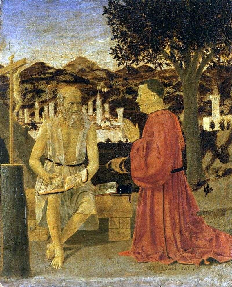 Святий Ієронім з донатором   Пєро делла Франческа