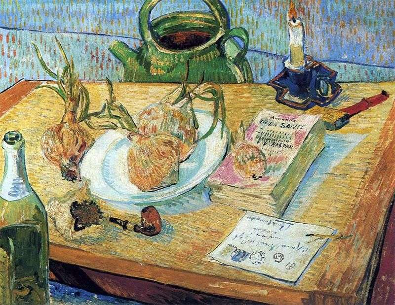Натюрморт з цибулею і креслярської дошкою   Вінсент Ван Гог