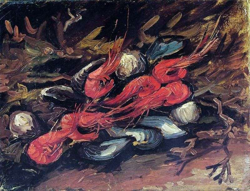 Натюрморт з мідіями і креветками   Вінсент Ван Гог