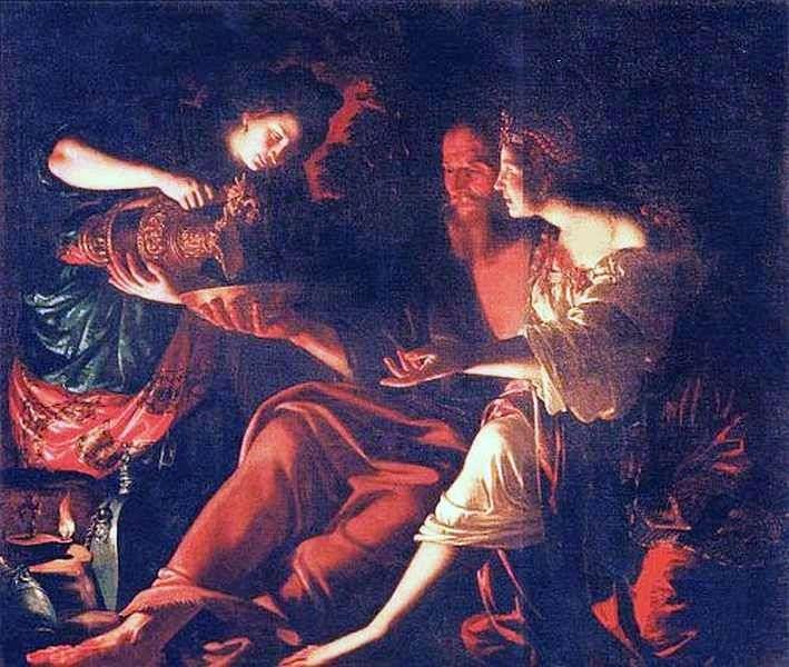 Лот з дочками   Джованні Франческо Гверрьери