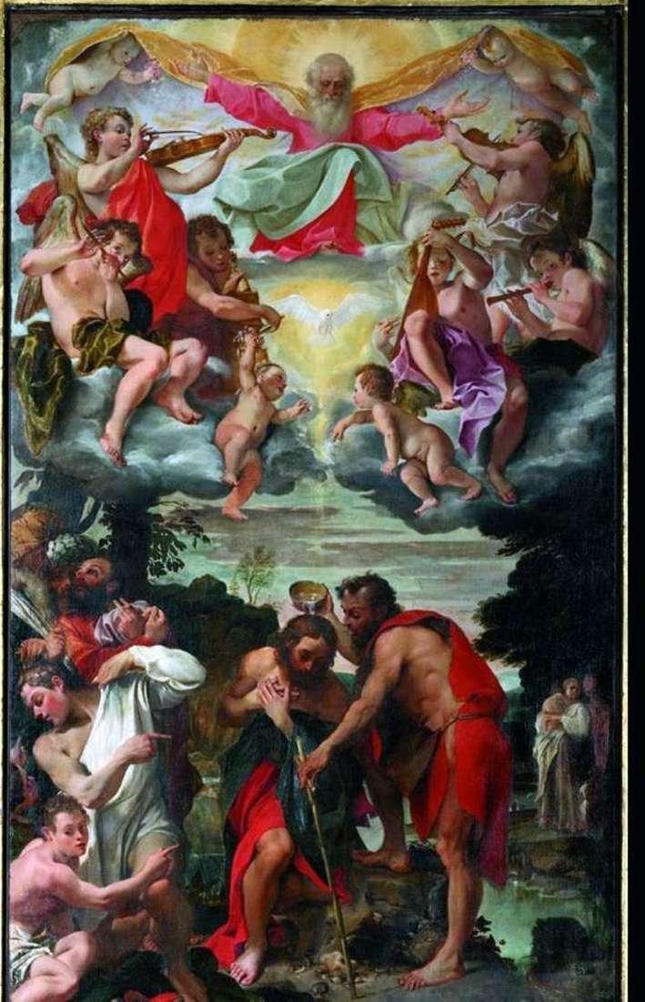 Крешение Христа   Аннібале Карраччі