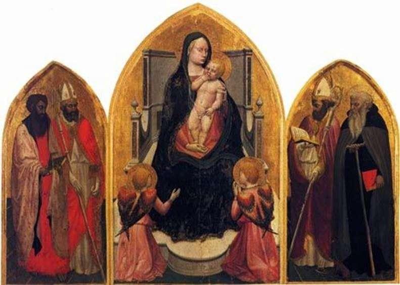 Мадонна з ангелами і святими (триптих Сан Джовенале)   Мазаччо