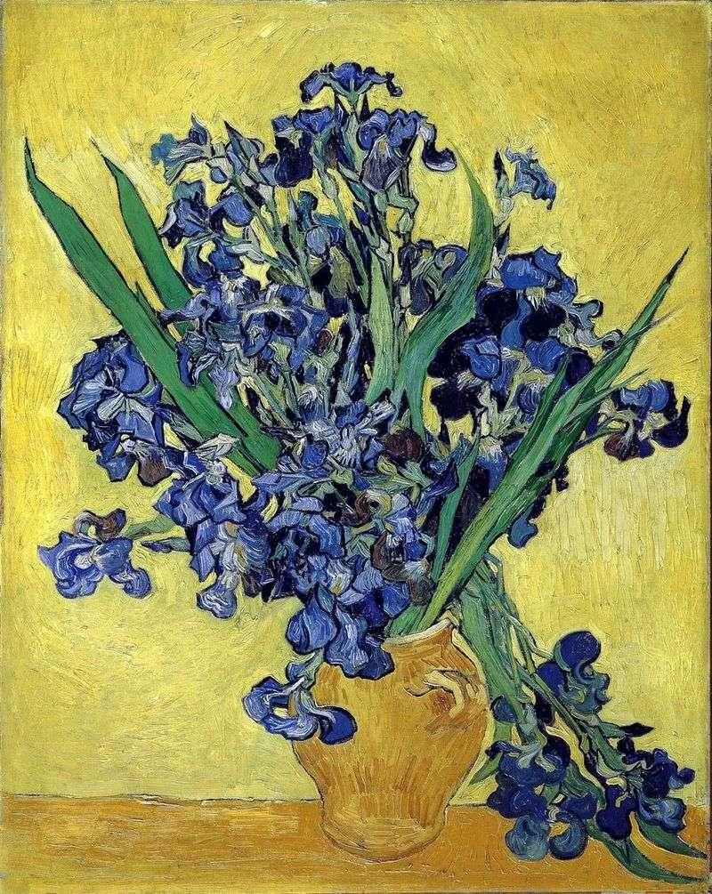 Натюрморт: ваза з ірисами на жовтому тлі   Вінсент Ван Гог