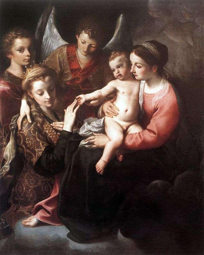Заручення святої Катерини   Аннібале Карраччі