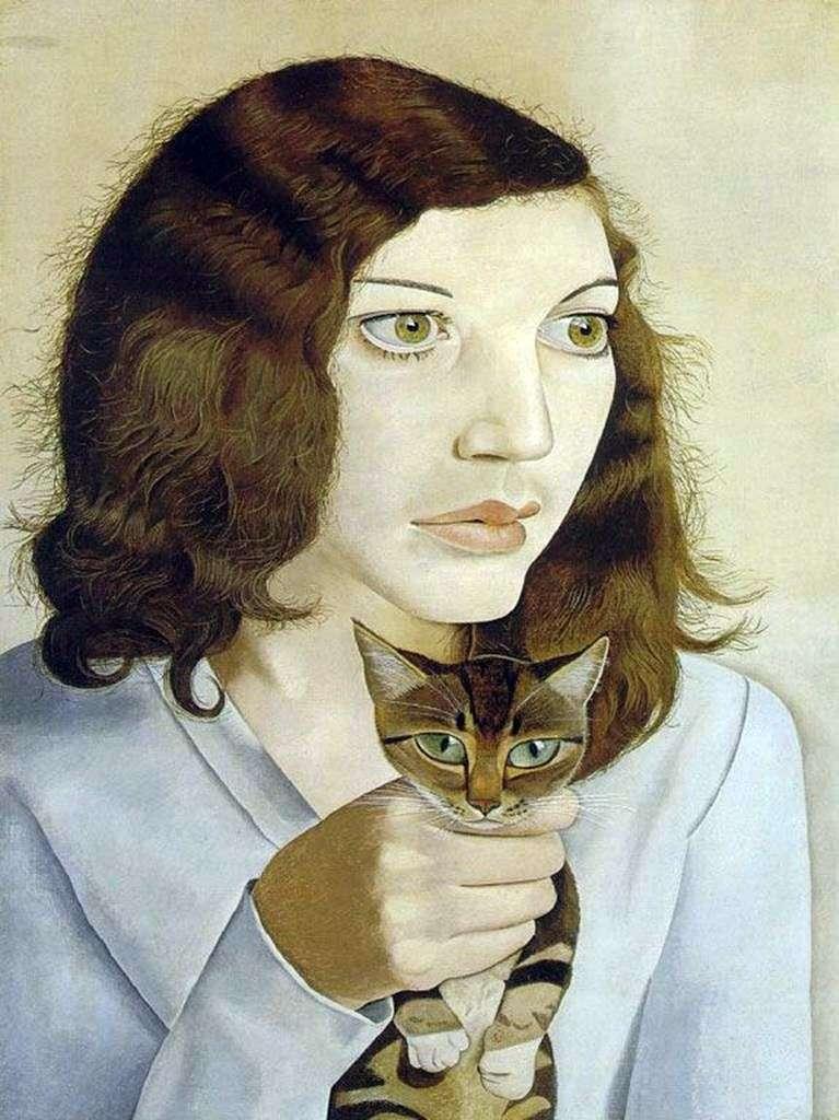 Дівчина з кицькою   Люсьєн Фрейд