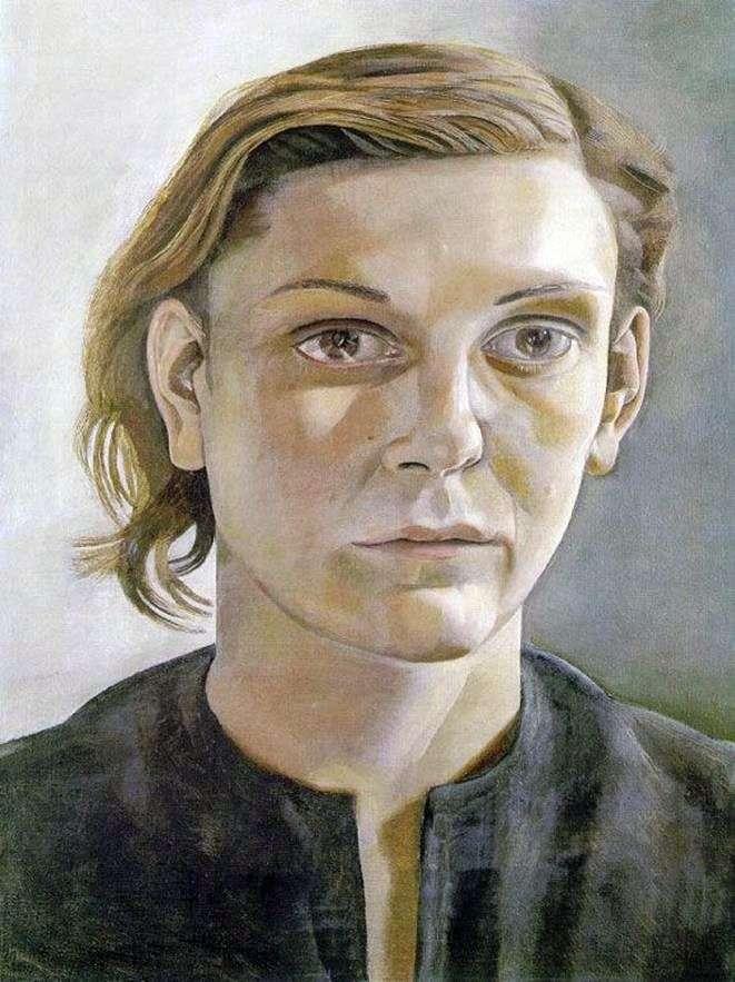 Дівчина з темним волоссям   Люсьєн Фрейд