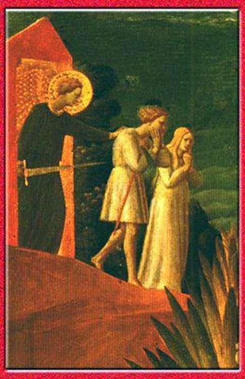 Вигнання. Фреска. Церква Іоанна Предтечі в Рощенье   Фра Беато Анджеліко