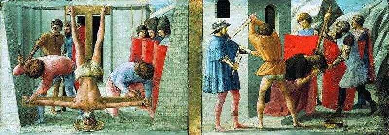Розпяття Петра і страту Іоана Хрестителя   Мазаччо