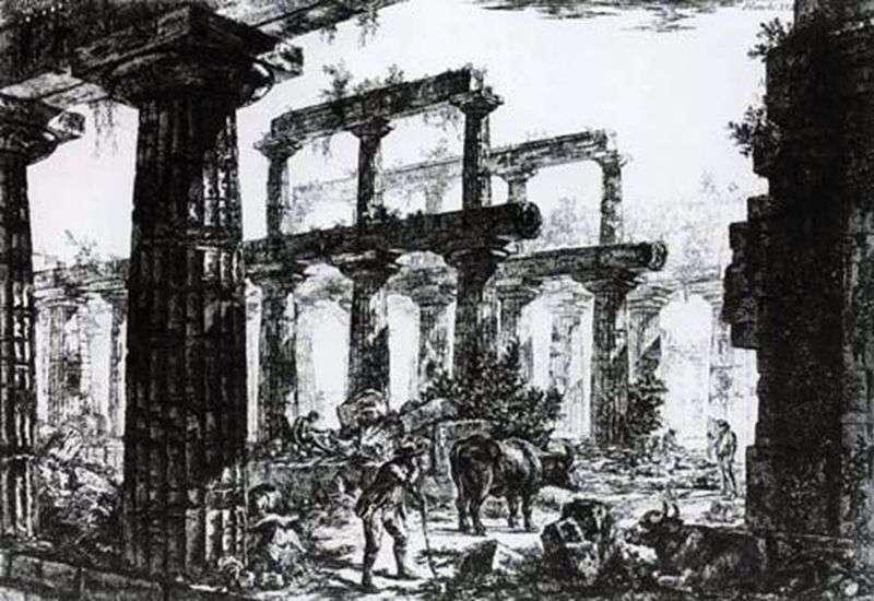 Руїни храму Нептуна в Пестумі   Джованні Піранезі