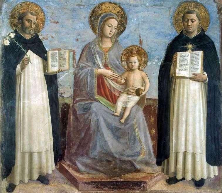 Мадонна з Немовлям, святим Домініком і святим Томою Аквінським   Фра Беато Анджеліко