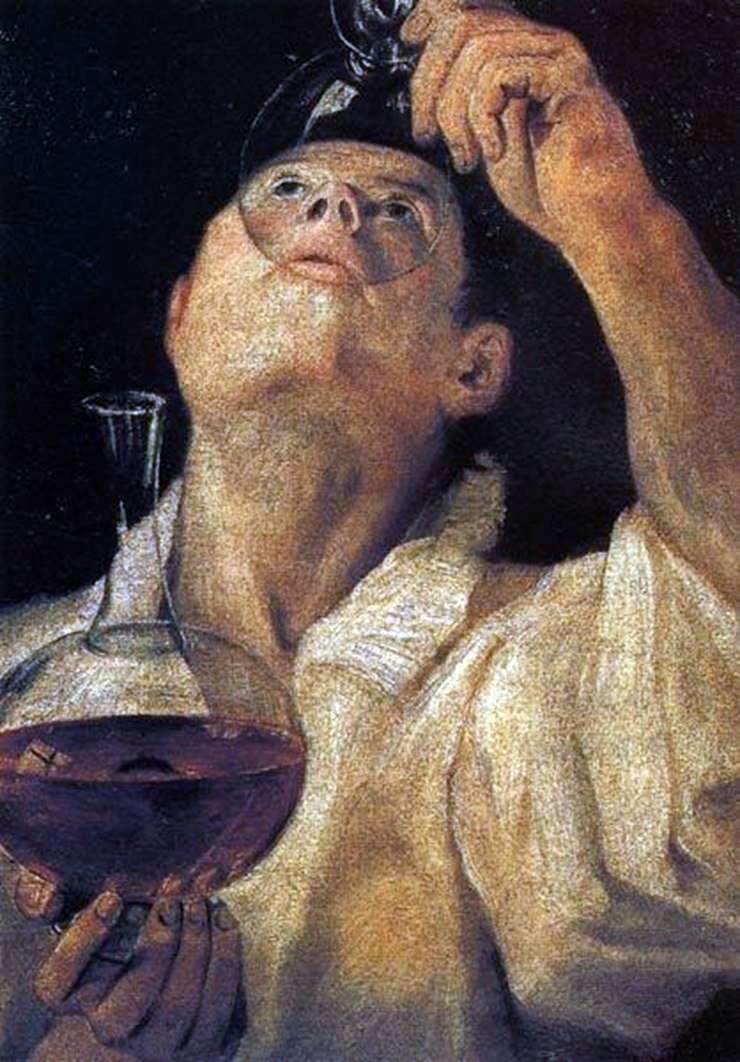 Портрет питущого юнаки   Аннібале Карраччі