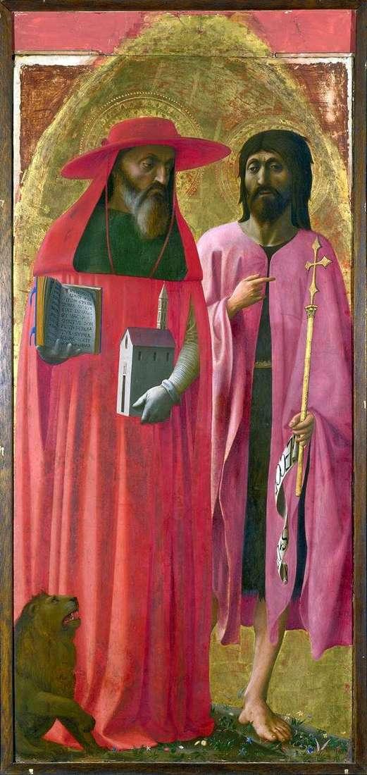 Святі Ієронім і Іоанн Хреститель   Томмазо ді Джованні Мазаччо
