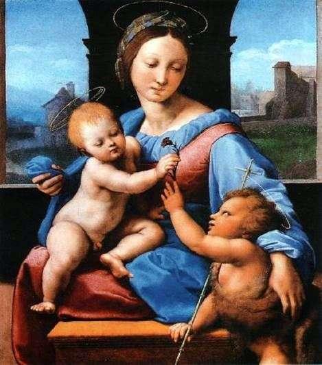 Мадонна з Немовлям і маленьким Іоанном Хрестителем   Рафаель Санті