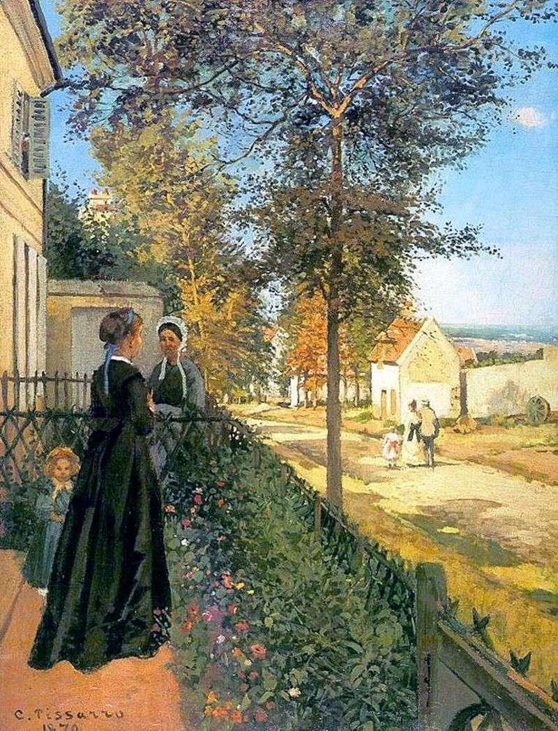 Лувесьенн. Дорога в Версаль (Дорога з Версаля в Лювесьен)   Каміль Піссарро