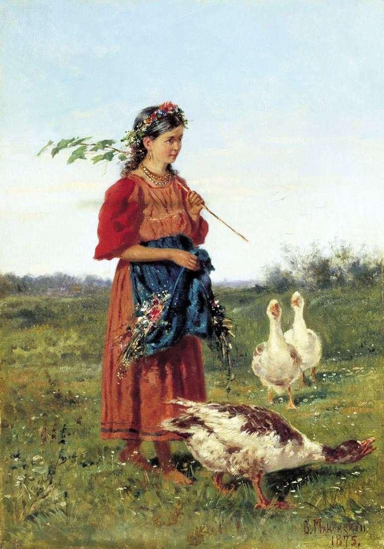 Дівчинка з гусьми   Володимир Маковський